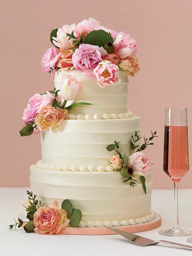 The 25 prettiest wedding cakes weve ever seen baked nyc fresh flowers wedding cake junglespirit Choice Image