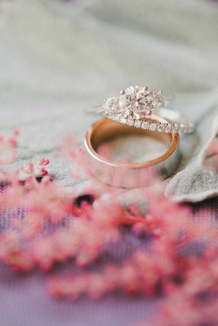 Three Round Stones Engagement Ring