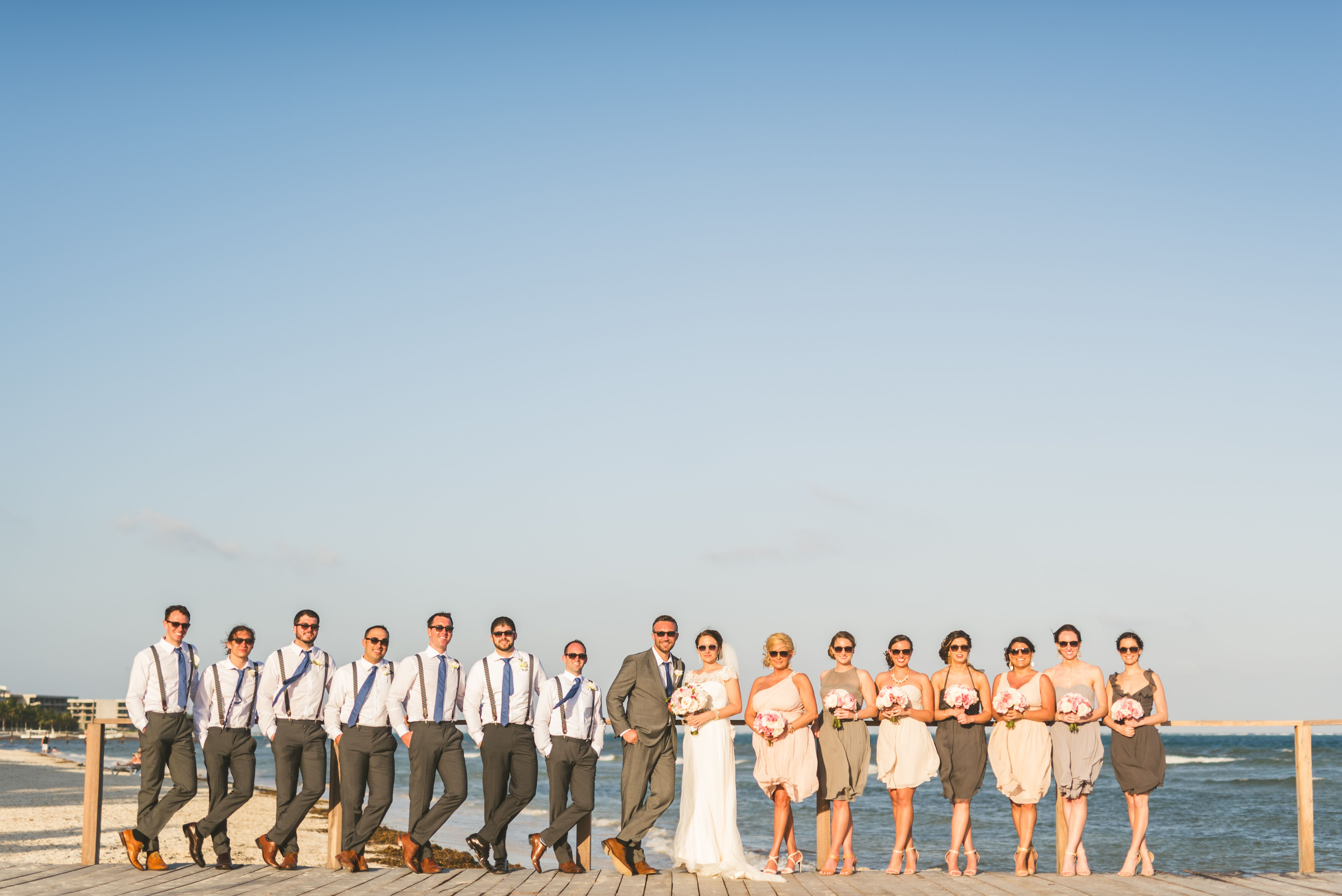 Neutral Bridesmaid Dresses for Beach Wedding