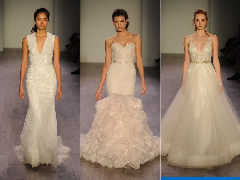 Lazaro Spring 2016 elegant wedding dresses