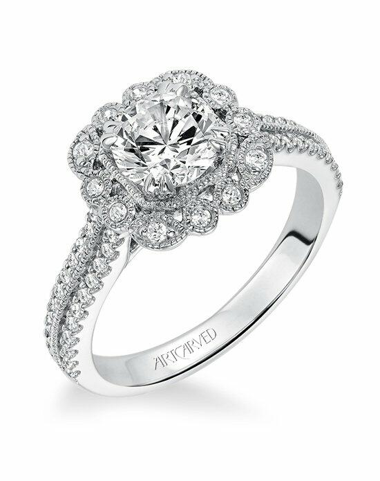 ArtCarved 31-V565ERW Engagement Ring photo