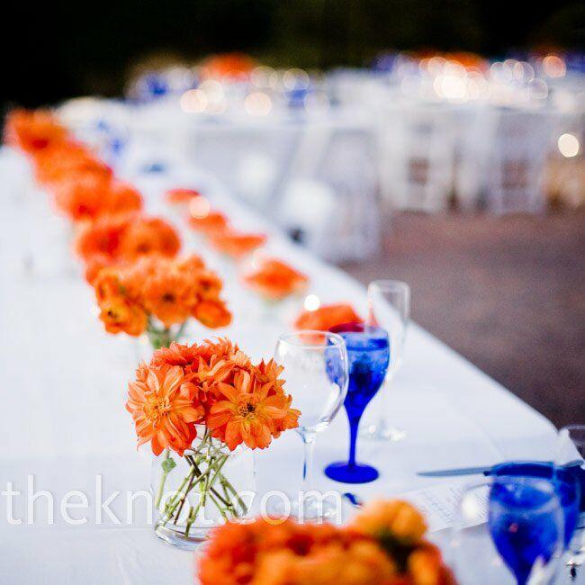 Orange Flower Arrangements For Weddings: Orange Daisy Centerpieces