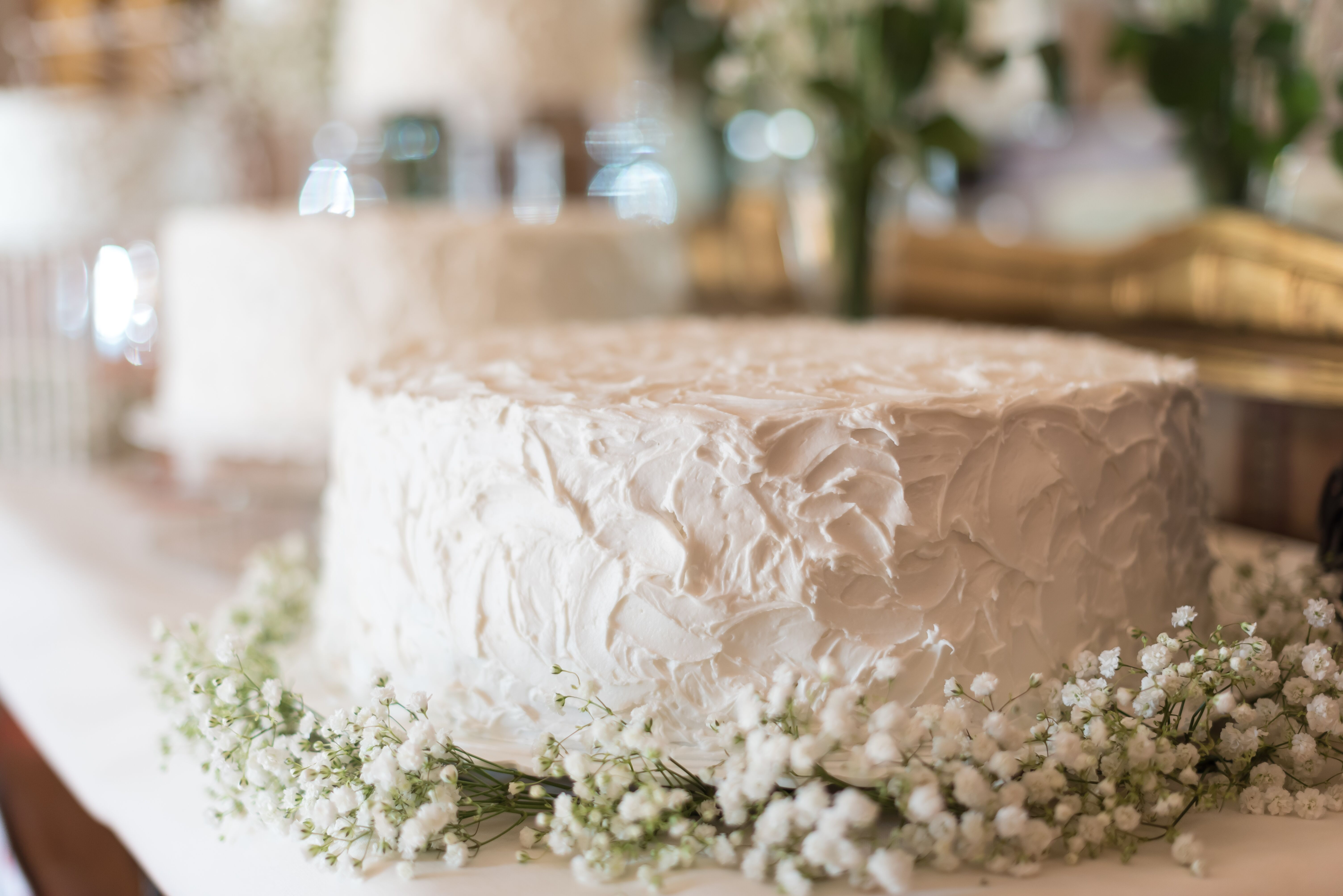 Diy wedding cakes diy textured cake with babys breath solutioingenieria Image collections