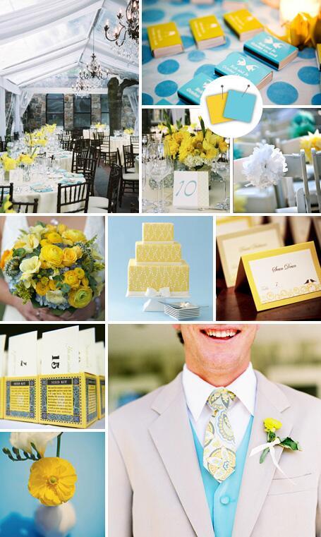 Navy And Yellow Wedding Ideas