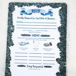 Real Winter Wedding Invitaitons