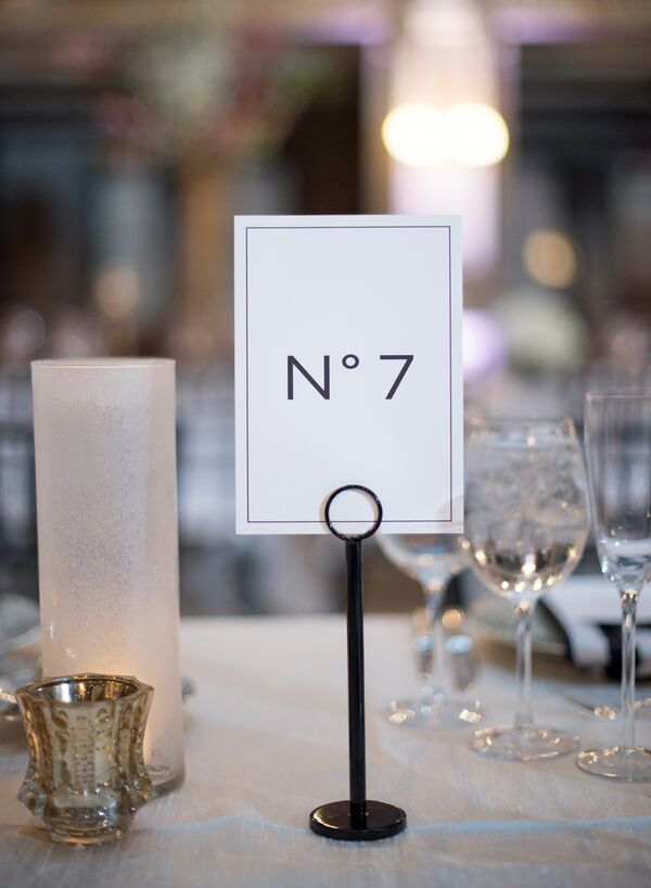 Chic Chanel-Inspired Table Number