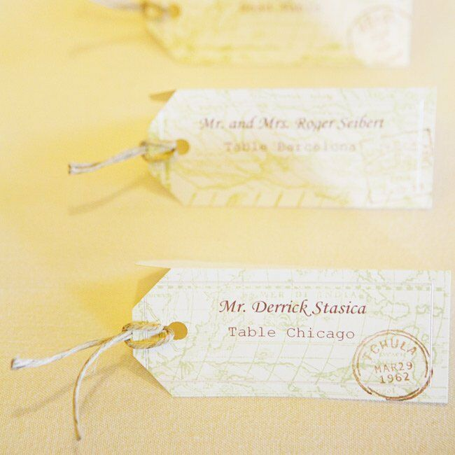 Luggage Tag Wedding Escort Cards