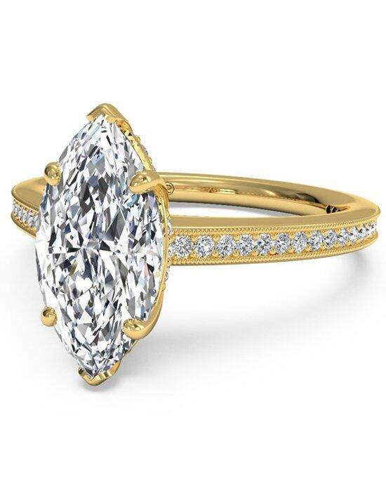 Ritani Marquise Cut Micropave Diamond Band Engagement Ring with Milgrain Finish in 18kt Yellow Gold (0.20 CTW) Engagement Ring photo