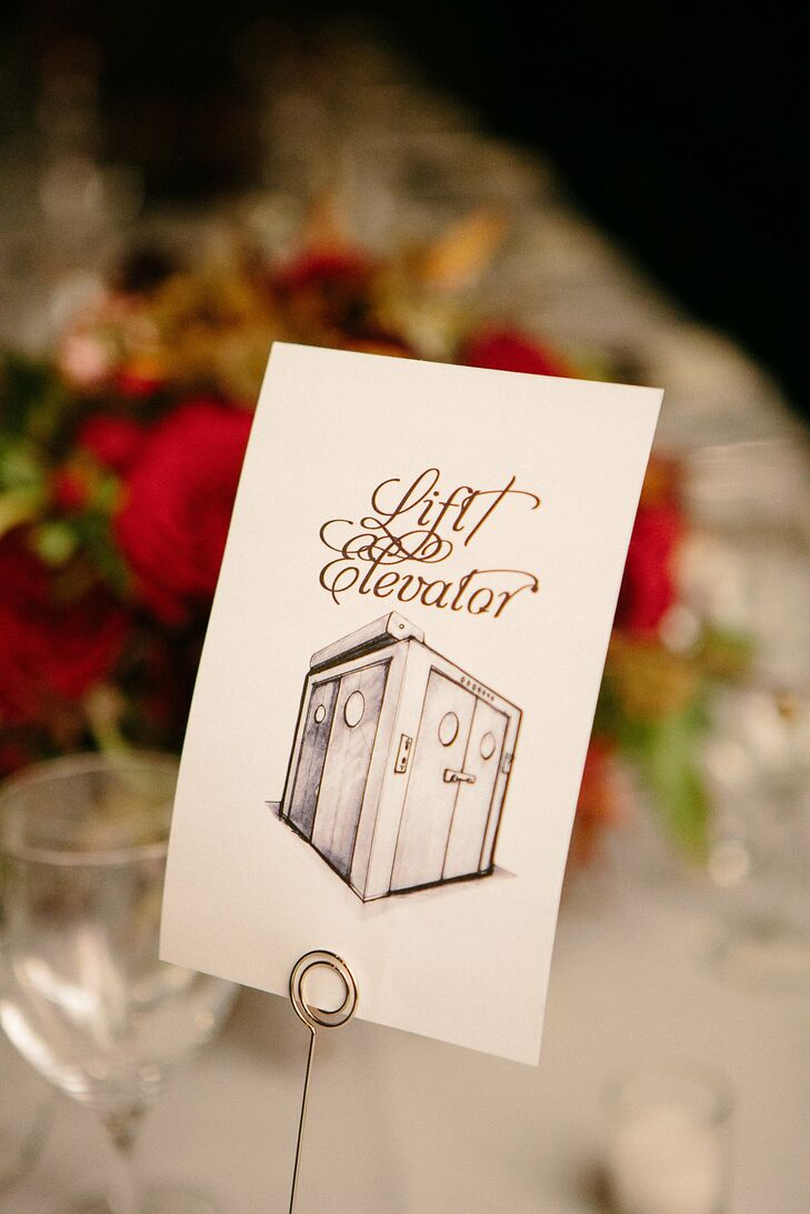 illustrated table name cards