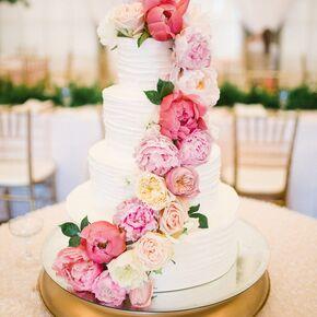 Peony Wedding Cakes - Peony Wedding Cake