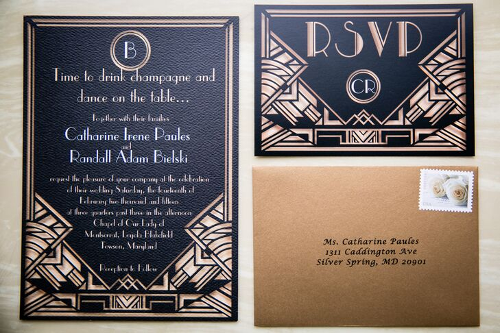 great gatsby inspired invitations