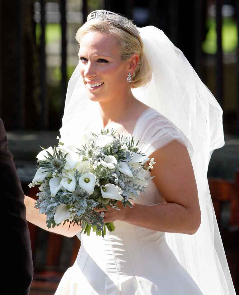 Zara Phillips on her wedding day