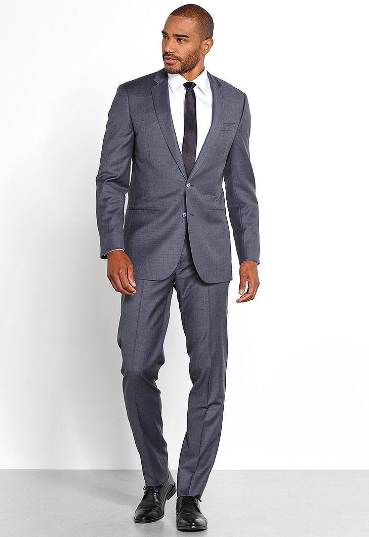 Grey Suit Beach Wedding Attire For Men