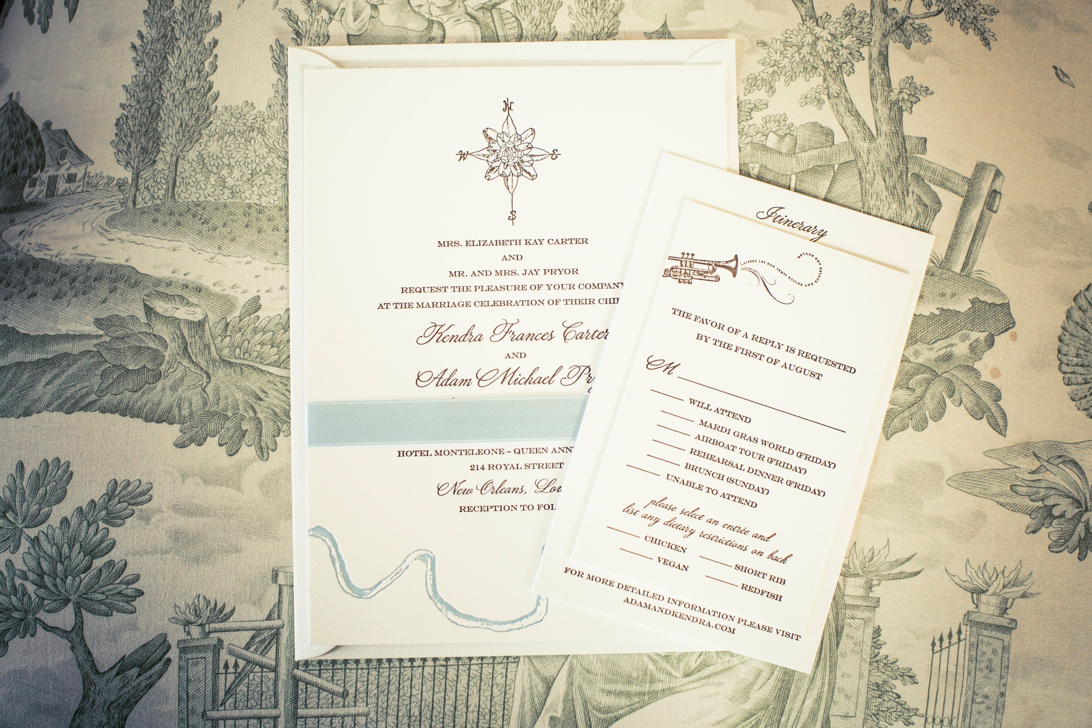 Wedding Invitations New Orleans: Classic, New Orleans-Inspired Invitation Suite