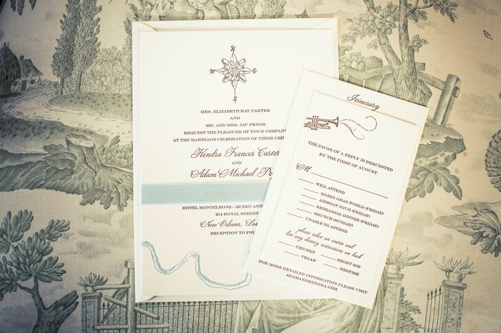 Classic, New Orleans-Inspired Invitation Suite