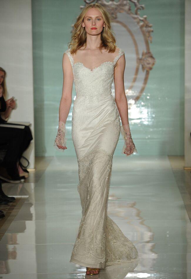 5 gowns inspired by behati prinsloos blush wedding dress wedding dress by reem acra junglespirit Gallery
