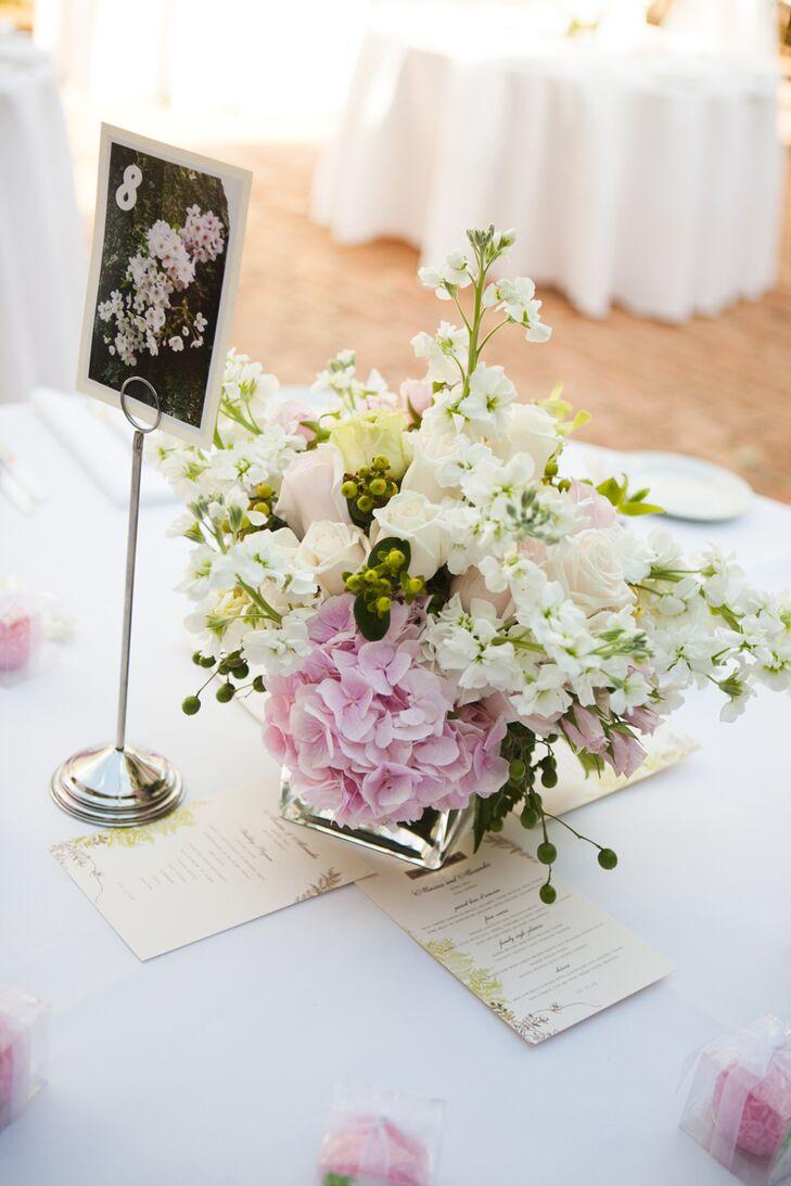 Flower Table Marker Lush Flower Centerpiece