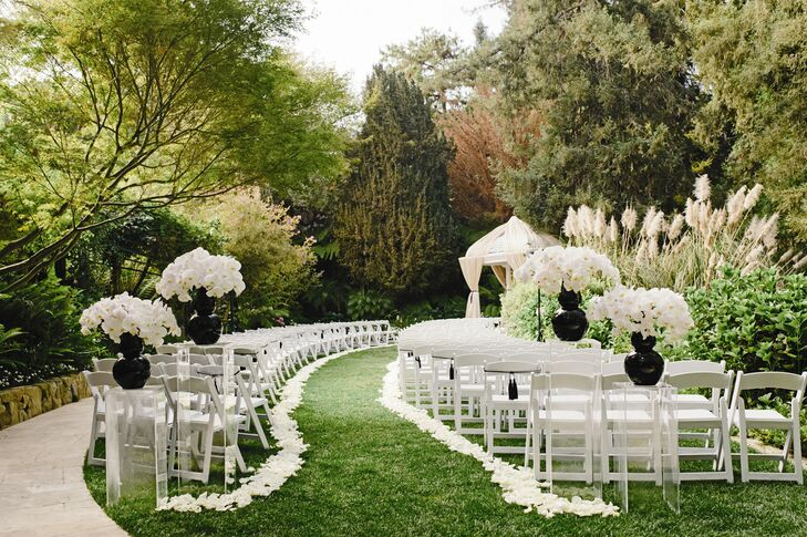 A Black Amp White Chic Wedding At Hotel Bel Air In Los