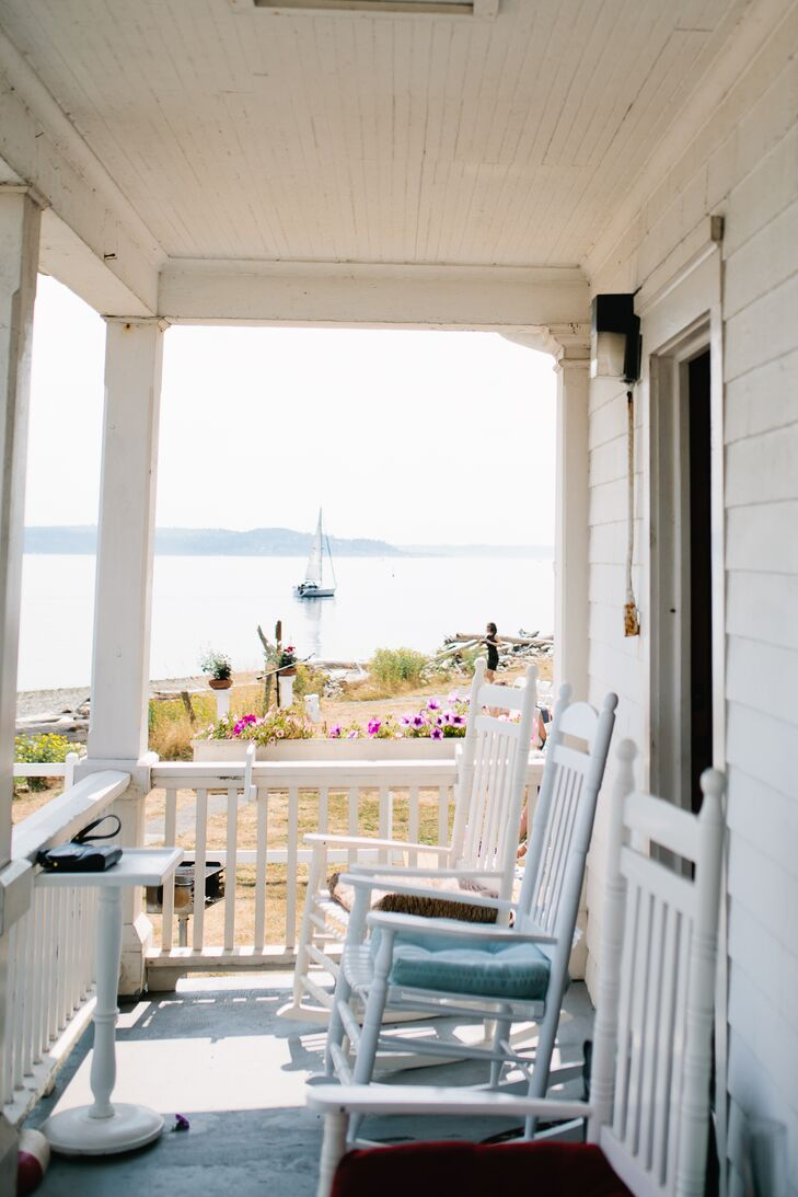 """Vashon Island is a serene island in Puget Sound; it is a quick ferry ride from West Seattle,"" says the couple. ""Kevan's parents built a house on the island over twenty years ago, serving as a weekend getaway ever since."""