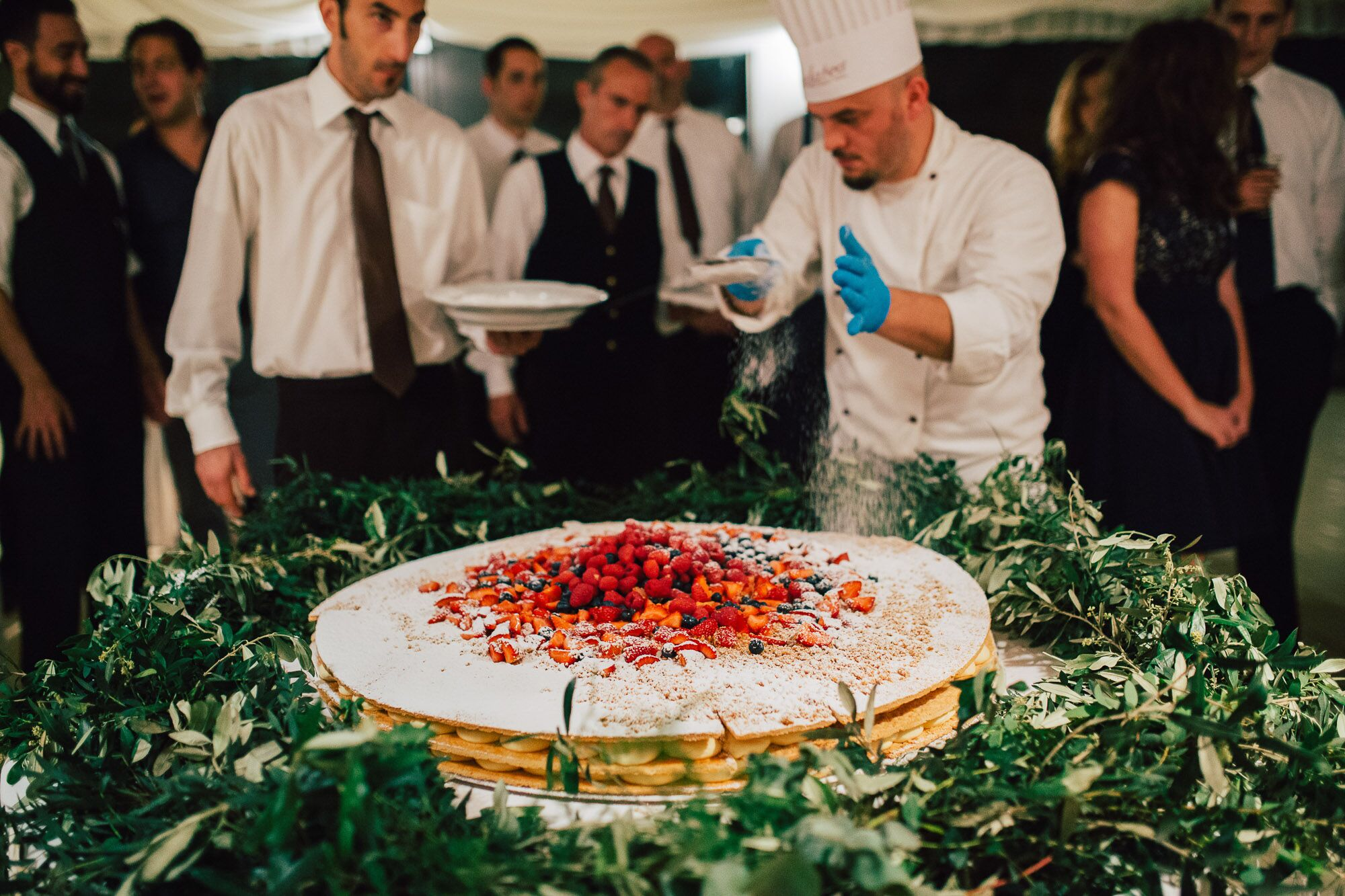Traditional Italian Millefoglie Wedding Cake