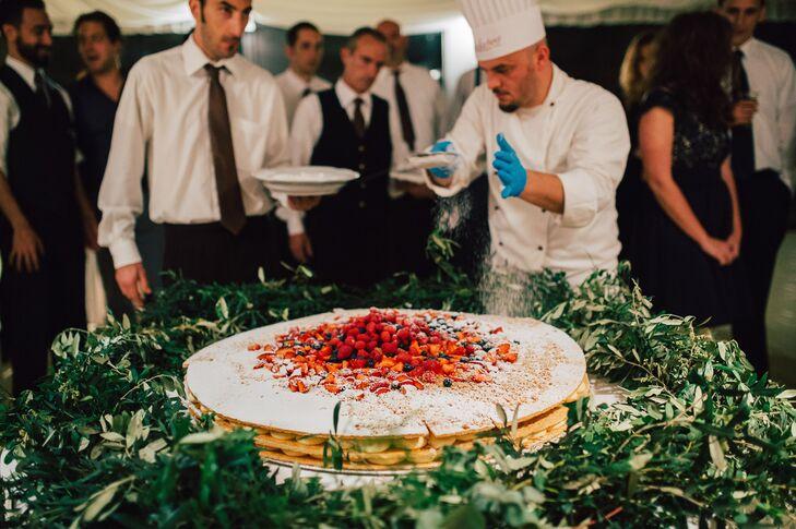 Traditional Italian Millefoglie Wedding Cake
