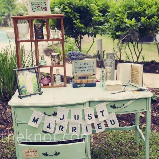 Novel Ideas For Wedding Reception: A Vintage Wedding In Spring, TX