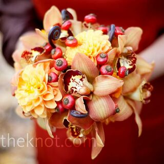 Real Fall Wedding Flowers