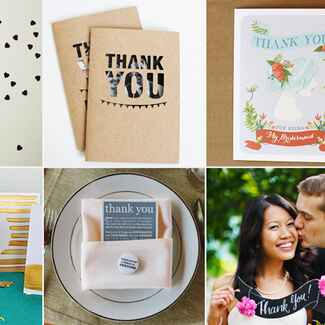DIY Thank You Notes // Featured: The Knot Blog