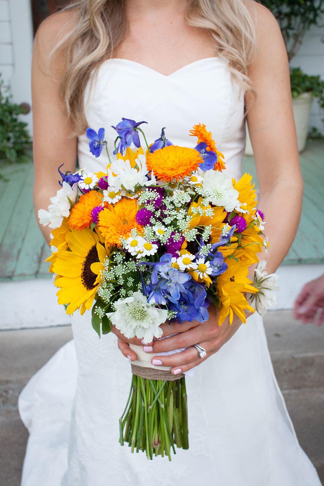 Texas Wildflower And Sunflower Bouquet In Austin Texas
