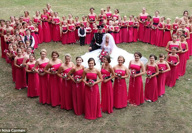 Bride With 80 Bridesmaids