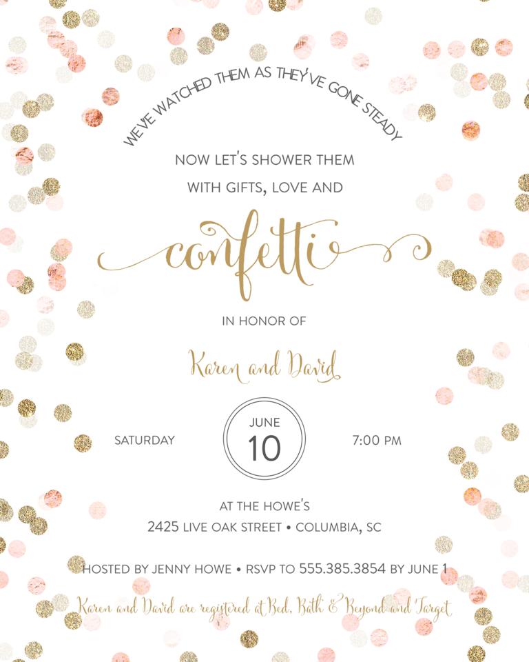 Vintage Wedding Shower Invitation Wording