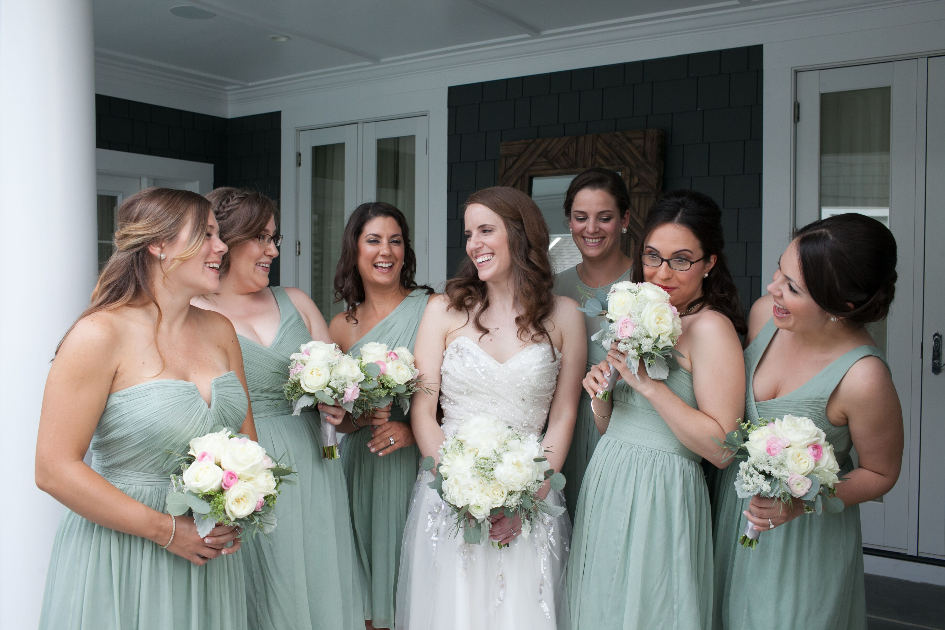 Mismatched dusty shale jew bridesmaid dresses ombrellifo Choice Image