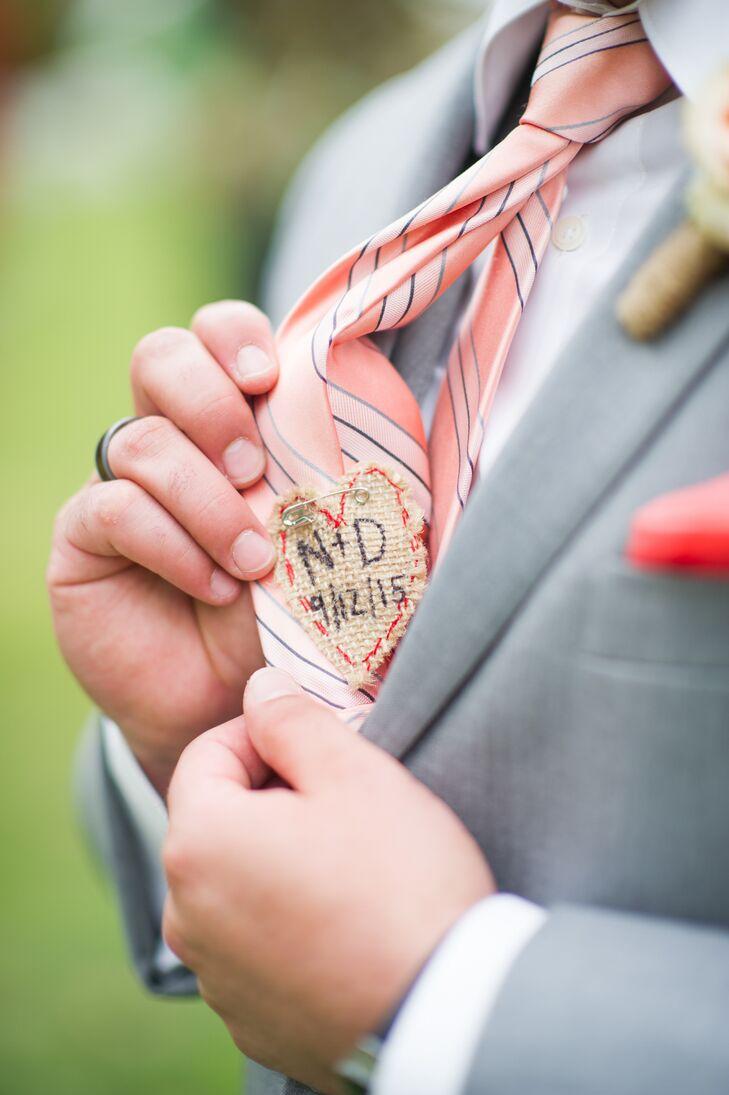 Personalized Groom\'s Tie