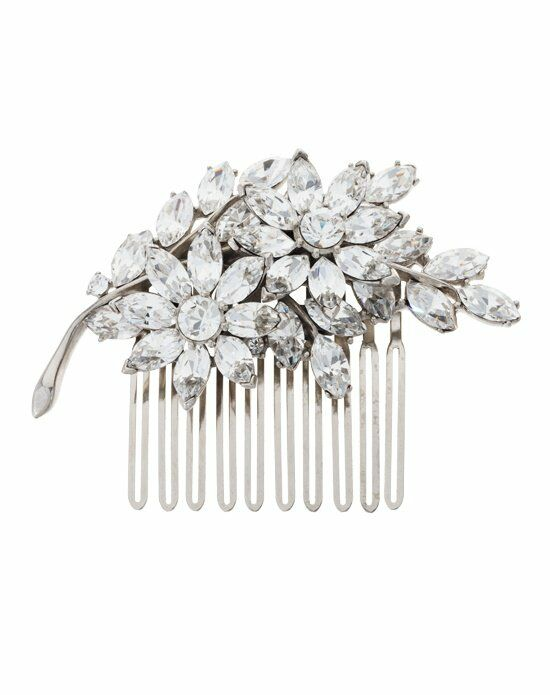 Thomas Laine Crystal Flower Comb Wedding Accessory photo