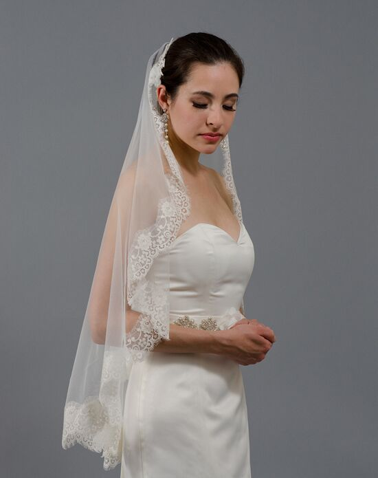 Tulip Bridal Lace Mantilla Veil-V026 Wedding Accessory photo