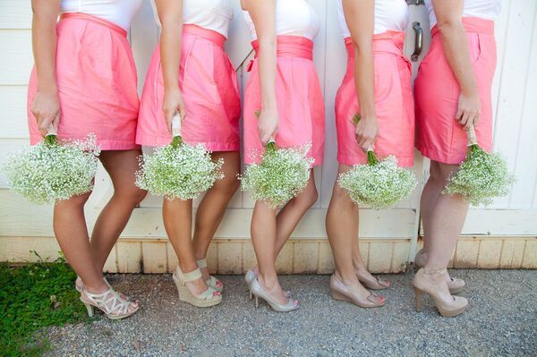 Mixed Preppy Bridesmaid Skirts