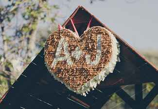 Monogram Heart Pinata
