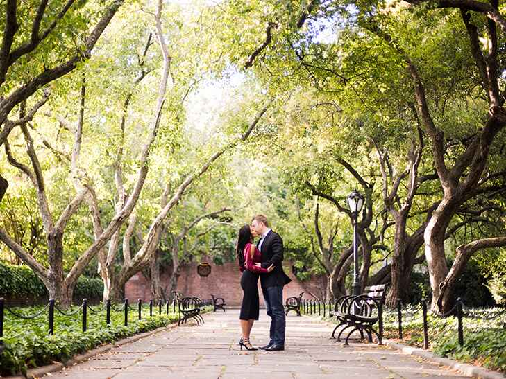 engagement photoshoot central park
