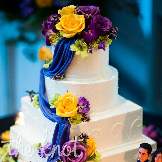 purple and yellow wedding cake ideas purple and yellow wedding cake 18887