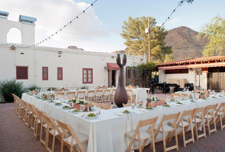 a whimsical wedding at shermer art center amp museum in