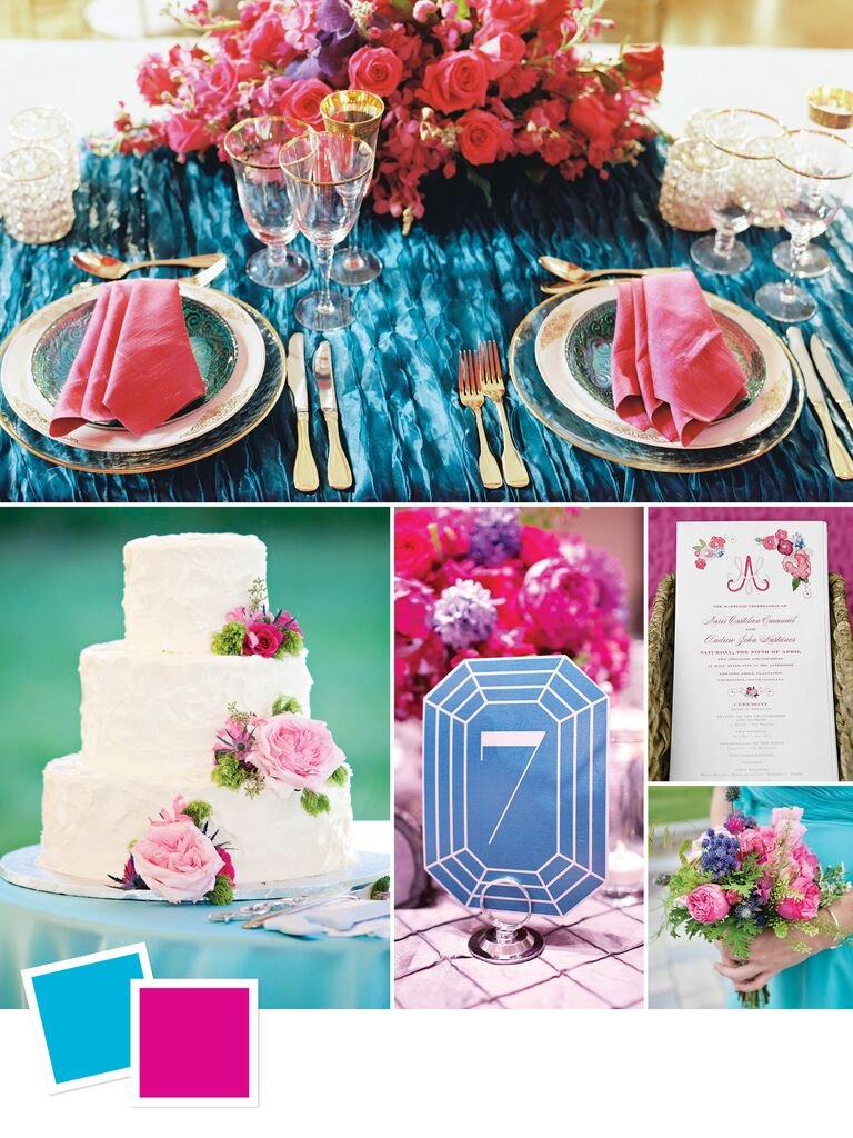 bright bold summer wedding color palette