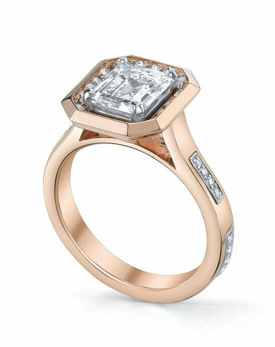 Michael B. Rose Gold Contemporary Stitch Lace Ring Engagement Ring photo