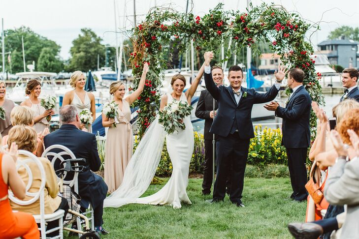 A Yacht Club Wedding With A Modern Twist At Cleveland