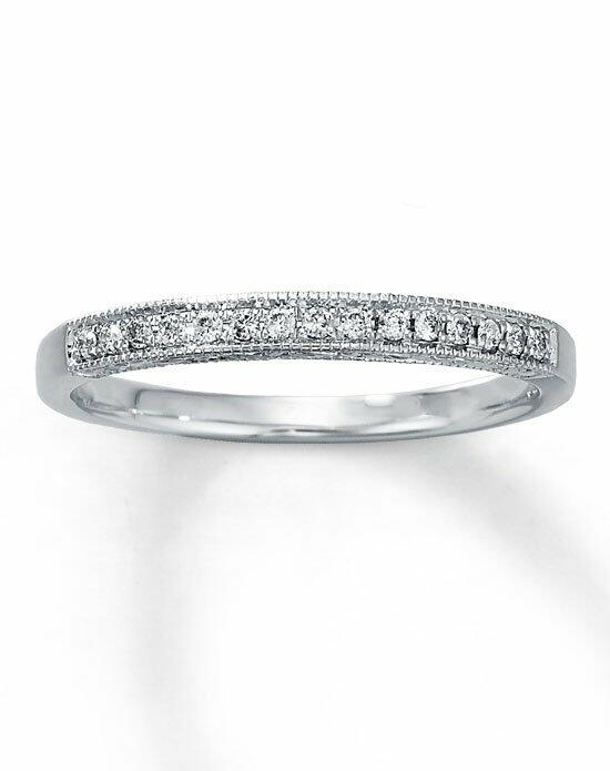 Kay Jewelers Diamond Anniversary Band 10K White Gold Round 1/10ct tw -531795300 Wedding Ring photo