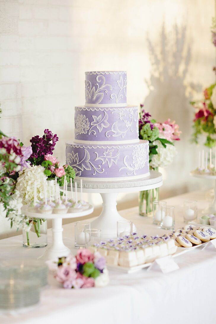 wedding cake lavender and white lavender and white wedding cake 23063