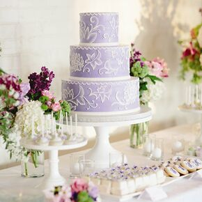 Purple wedding cakes lavender and white wedding cake junglespirit Choice Image