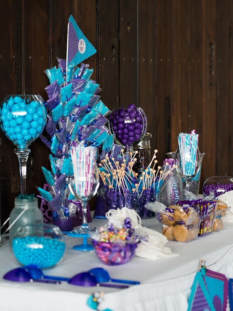 Candy Bar At Wedding Reception Wedding Decor Ideas