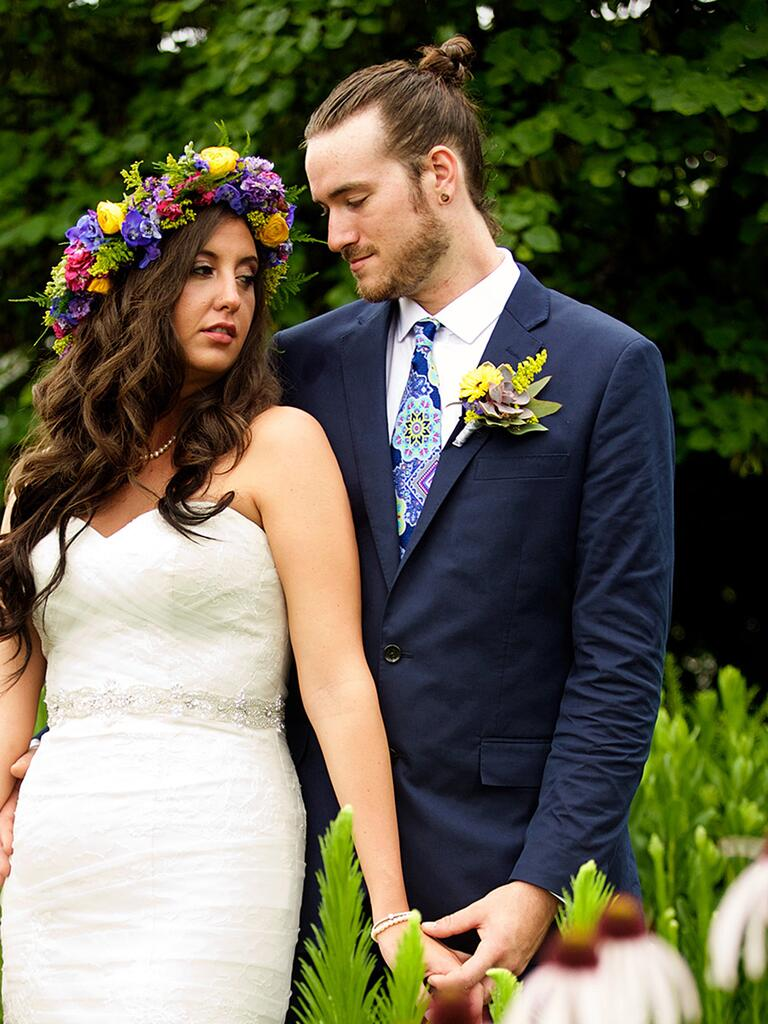 Wedding hairstyle ideas for men's long hair
