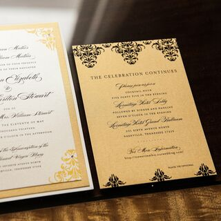 Invitations Gold Wedding
