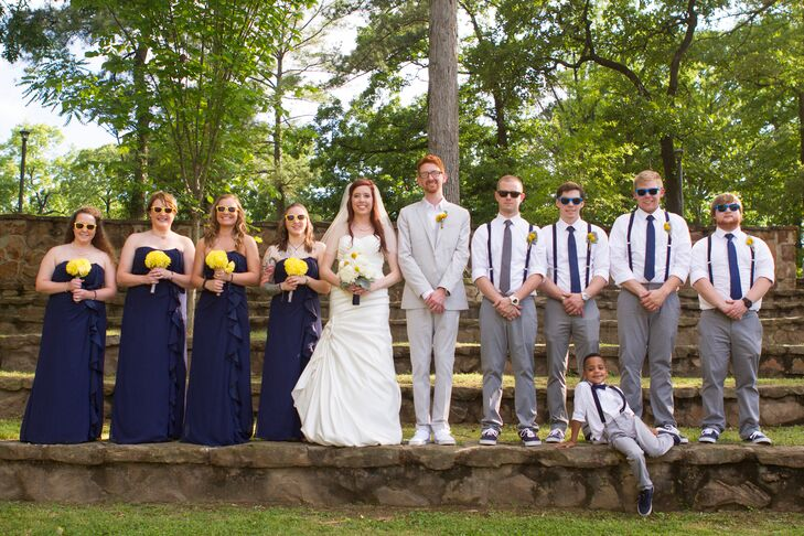Navy Bridal Party